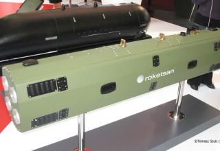 Макет авиационного блока орудий для пуска управляемых авиационных ракет CIRIT. ©Tomasz Szulc (Польша).
