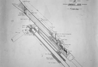 Ракетное орудие. © IWM (Q 35760)  http://www.iwm.org.uk/collections/item/object/205270470