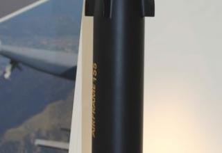 Макет итальянского ракетного управляемого снаряда Волькано калибра 155 мм. Фото: Т.Шульц©.