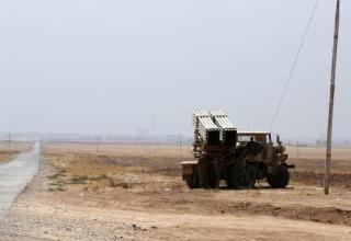 БМ РСЗО на дороге к Rabia,  Ирак. 01.10.2014 г.