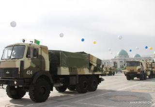 "Боевая машина РСЗО ""Белград"" в Туркменистане"