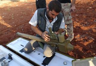ПУ китайского ЗРК FN-6. Север Алеппо. Опубл. 14-15.10.2014 г. http://www.dailymail.co.uk