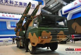 Демонстрационный вариант ПУ ЗРК KS-1C. http://www.china-defense-mashup.com/ks-1c-sam-missile-in-2014-zhuhai-air-show.html