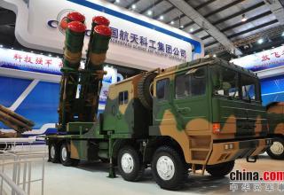 Демонстрационный вариант ПУ ЗРК FK-3. http://www.china-defense-mashup.com/fk-3-sam-missile-in-2014-zhuhai-air-show.html