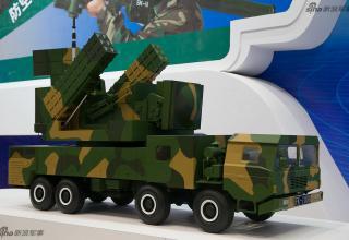 Макет ПУ ЗРК (Китай). http://www.china-defense-mashup.com/fk-3000-defense-system-in-2014-zhuhai-air-show.html
