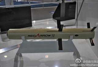 Макет ПТУР Red Arrow 12 (Китай).www.china-defense-mashup.com/hj-12-anti-tank-missile-in-2014-zhuhai-air-show.html