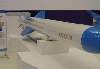 Макет крылатой ракеты CM-708UNA для пуска с подлодок (Wendell Minnick / Staff) (Китай). http://www.defensenews.com 11.11.2014 г.