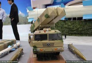 Макет ПУ для пуска ракет СХ-1 и макеты боеприпасов. www.armyrecognition.com