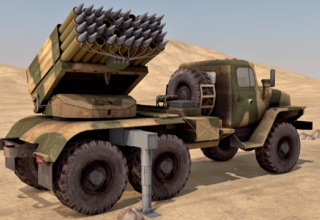 Русунок (компьютерная графика) РСЗО TAKA - 1 для пуска РС калибра 122 мм (Судан)