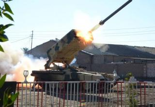 Опубл. 16.02.2015г. Боевая машина БМ-1 Тяжёлой огнемётной системы ТОС-1A иракской армии. http://defence-blog.com/?p=3314