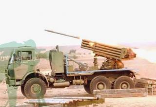 Боевая машина HM-20 иракской армии во время стрельбы в Diyala Governate. Опубл. 09.12.2014 г. http://gooyadaily.com