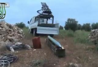 Пусковая установка сирийских повстанцев. Подготовка к стрельбе по силам Ассада. http://khmertube.khmerelite.ws