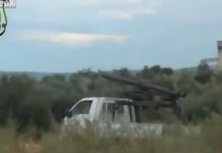 Пусковая установка сирийских повстанцев после стрельбы по силам Ассада. http://khmertube.khmerelite.ws