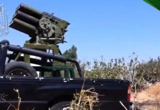 Боевая машина для пуска ТРС калибра 107 мм перед стрельбой сирийскими повстанцами. http://www.youtube.com/watch?v=cb3Yfpe_jgc