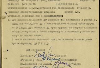 ЦАМО РФ. Ф. 21 ОГМД 77 ГМП. Оп. 16691с. Д. 8. Л. 21.