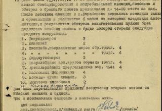 ЦАМО РФ. Ф. 21 ОГМД 77 ГМП. Оп. 16691с. Д. 8. Л. 24.