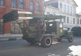 Нештатная установка М-13. Перед парадом. улица Менделеевская. ©С.В. Гуров (Россия, г.Тула).