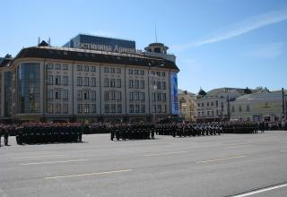 Парадные коробки перед военным парадом. Площадь Ленина. ©С.В. Гуров (Россия, г.Тула).