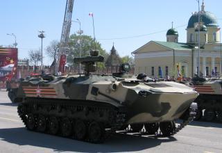 ПУ ПТРК на БТР-РД. Военный парад. Площадь Ленина. ©С.В. Гуров (Россия, г.Тула).