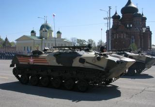БТР с ПЗРК. Военный парад. Площадь Ленина. ©С.В. Гуров (Россия, г.Тула).