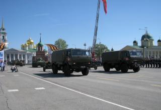 КАМАЗ-43501 с 85-мм пушкой Д-44 (2 единицы). Военный парад. Площадь Ленина. ©С.В. Гуров (Россия, г.Тула).