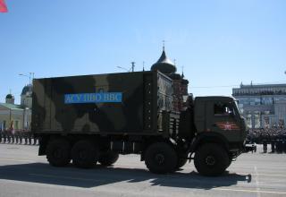 Машина АСУ ПВО ВВС на военном параде. Площадь Ленина. ©С.В. Гуров (Россия, г.Тула).