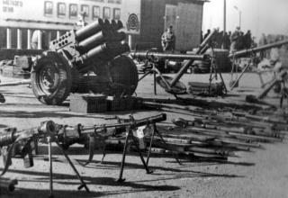 Захваченная у муджахедов установка серии Type 63 (Китай) и другое вооружение. Из Архива Фотостудии
