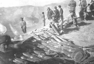 Оружие и боеприпасы, захваченные на базе Дарбанд. Среди них 107мм ТРС. http://maimana-1.ucoz.ru/publ/1987_god_chast_6/7-1-0-66