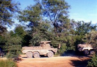 Ratel-ZT3 противотанкового подразделения 32 дивизиона на марше. http://www.warinangola.com/Default.aspx?tabid=999