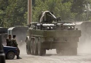 ТЗМ 9Т452 со снарядами РСЗО