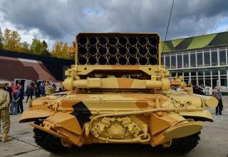 Боевая машина БМ-1 Тяжёлой огнемётной системы ТОС-1А. http://tagilcity.ru/photo/albums/165515/