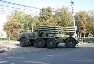 Боевая машина 9П140 РСЗО