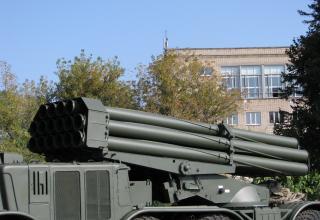 Артиллерийская часть боевой машины 9П140 РСЗО