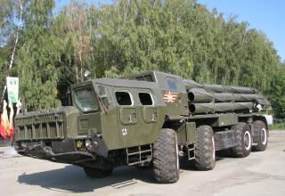 Боевая машина 9А52 РСЗО