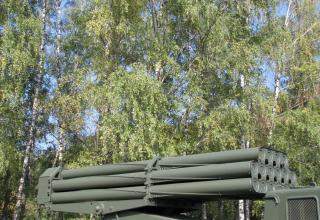 Пакет направляющих артиллерийской части боевой машины 9П140 РСЗО