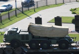 БМ 9П140 перед транспортировкой в войсковую часть. 21.09.2015 г. ©С.В. Гуров (Россия, г.Тула).