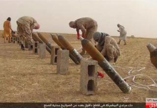 Подготовка ИГИЛ к удару по Peshmerga в Daquq, Ирак. Опубл. 15.09.2015 г. https://twitter.com/hashtag/daquq