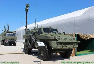 Разведывательно-дозорная машина 4x4 системы ПВО Arlan Igla. http://www.armyrecognition.com