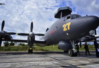Противолодочный самолёт Ил-38Н морской авиации Тихоокеанского флота. http://www.newsvl.ru/vlad/2016/09/07/151310/#gallery42