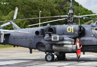 Многоцелевой всепогодный вертолёт ВВС РФ Ка-52