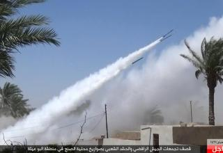 ИГИЛ в Ираке. https://www.zerocensorship.com/uncensored/isis/extremists-firing-multiple-rockets-at-iraqi-coalition-forces-290476