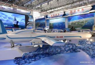 Ударный беспилотный самолёт WJ-600A/D. http://en.people.cn/n3/2016/1103/c90000-9136908-3.html