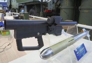 Макет портативной переносной многоцелевой ракетной системы Xiu Jian (