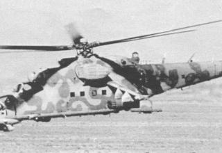 Ми-24П в полете над пригородами Кандагара. 205-я ОВЭ, осень 1987 г. topwar.ru/21468-vertushki-afganistan-mi-24.html