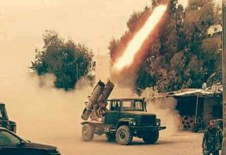 twitter.com/bm27_uragan...  4th Armoured Division IRAMs in Damascus. Опубл. 01.03.2017 г.