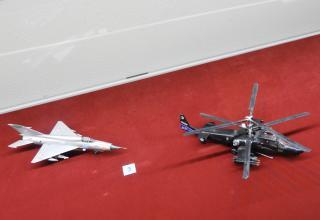 Модели истребителя МиГ-23 и вертолёта Ка-50. Фото: ©С.В. Гуров (г.Тула).