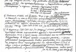 ЦАМО РФ. Ф. 59. Оп. 12200. Д. 43. Л. 125а.