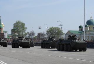 Репетиция Парада Победы в Городе-Герое Туле 2 мая 2018 года