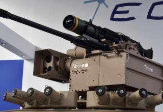 Макет станции вооружения R-400S Mk2 (Австралия). janes.com/article/86532/idex-2019-uae-confirms-eos-weapon-station-contract