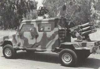 OMC RG-32 Scout с 107 мм пусковой установкой (Южная Африка). Jane's Armour and Artillery 2005-2006. - UK, 2005 - P. 601.